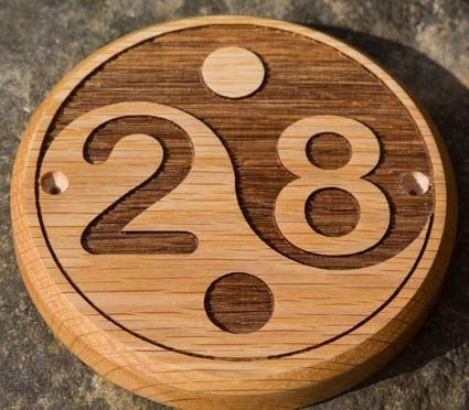 Online Sign Maker Wooden House Number Signs